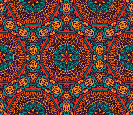 Abstract festive colorful vector ethnic pattern Illustration