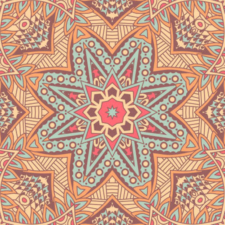 traditional pattern: Abstract festive colorful mandala vector ethnic boho tribal pattern