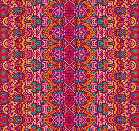 Abstract colorful ethnic tribal pattern
