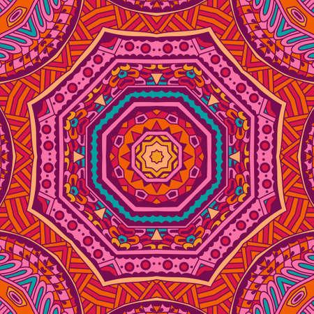 Abstract geometric ethnic seamless pattern design 矢量图像