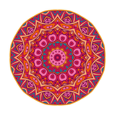 round mandala ornamental symbol Ilustração