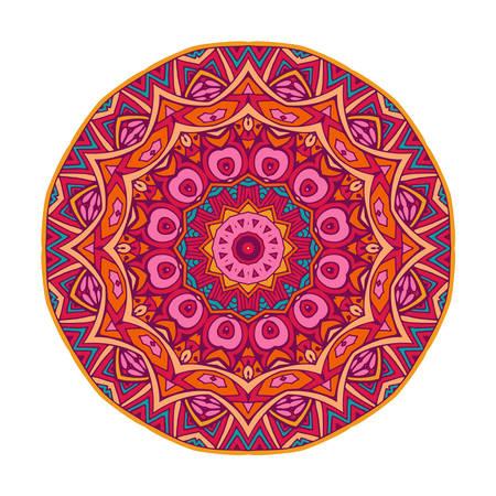 round mandala ornamental symbol Illustration