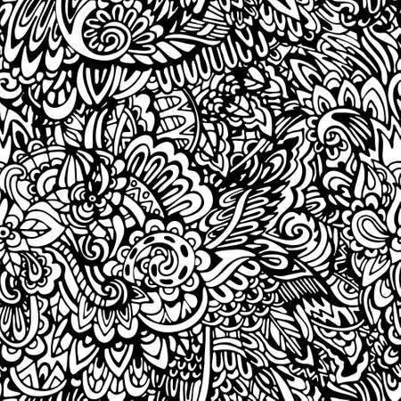 pattern: coloring page seamless pattern Illustration
