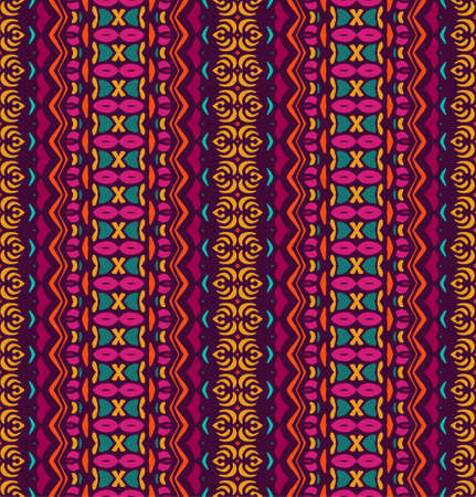 ethnic tribal festive pattern for fabric. Abstract geometric colorful seamless pattern ornamental. Mexican design Illustration