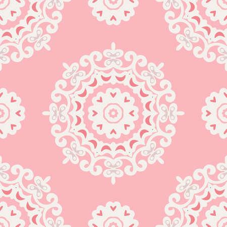 cute pink mandala pattern