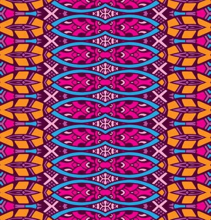 ethnic tribal ornamental pattern colorful Illustration
