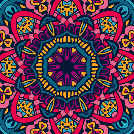 patchwork: Abstract geometric colorful intricate seamless pattern ornamental.