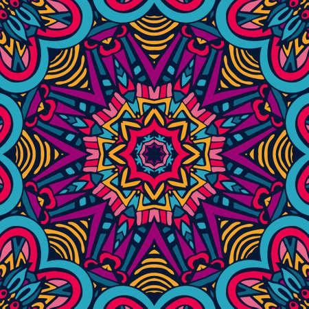 Abstract Tribal ethnic ornamental pattern Çizim