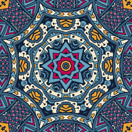 India Festival Ethnic geometric print. Colorful Tribal art background texture. Fabric, cloth design, wallpaper, wrapping