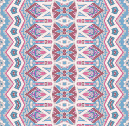 Abstract striped ornamental motif seamless pattern. Bohemian Geometric print