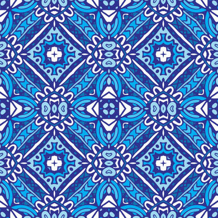 Seamless ornamental vector tiles pattern for fabric