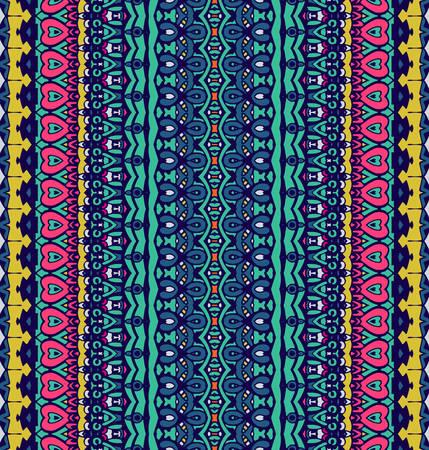 Geometric striped abstract seamless pattern Illustration