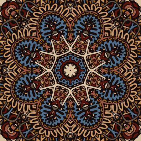 Abstract Tribal ethnic mandala round ornament Illustration