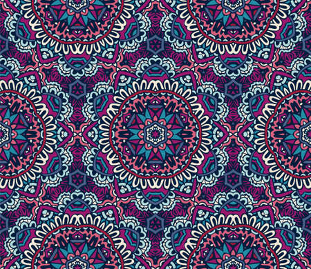 abstract ethnic ciolorful seamless pattern mosaic tiled background