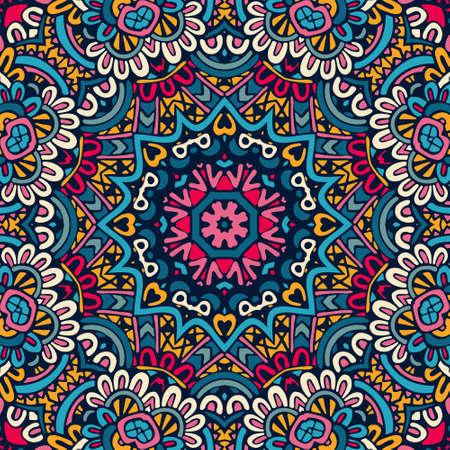 Abstract ethnic mandala floral pattern ornamental