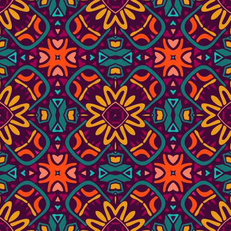seamless vector colorful Geometric doodle print Illustration