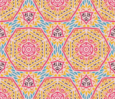 Geometric ethnic tribal pattern. Aztec boho style ornament. Surface fill