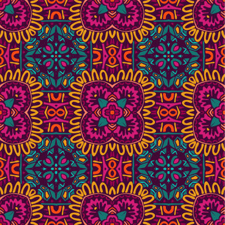 ethnic pattern for fabric. Abstract geometric mosaic vintage seamless pattern ornamental.