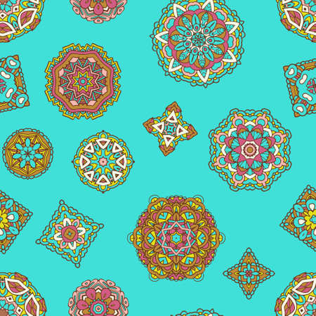 Abstract seamless vintage luxury mandala ornamental vector pattern for fabric