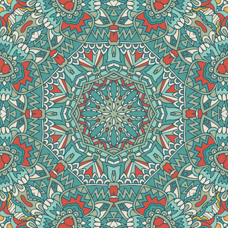 Ethnic geometric print. Colorful repeating background texture. Fabric, cloth design, wallpaper, wrapping Vektorové ilustrace