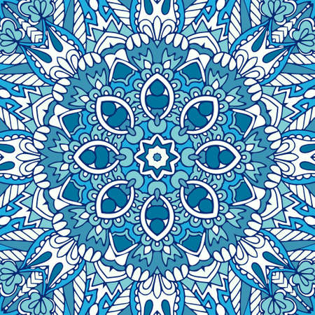 doodle abstract ornamental color illustration with stylized covering. winter background seamless vector pattern Illustration