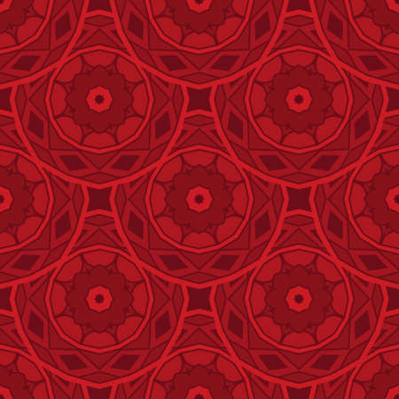 Red abstract geometric ornamental circle flower textured chinese new year background vector