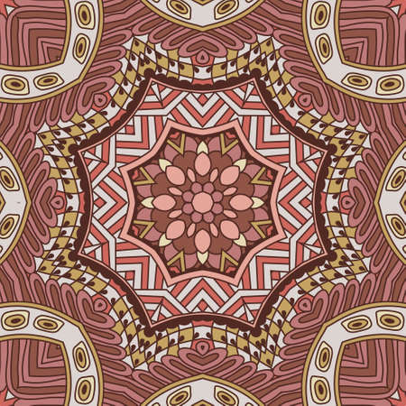 festival art seamless pattern. Ethnic geometric print. Vintage repeating background texture. Fabric, cloth design, wallpaper, wrapping