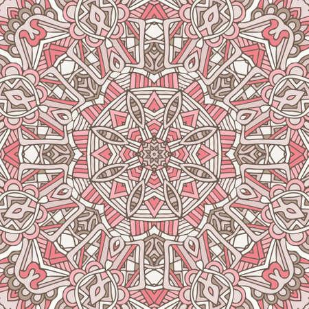 Abstract geometric tiles bohemian ethnic seamless pattern ornamental. Hand drawn graphic print