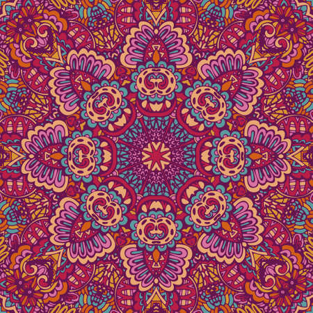 ethnic festive pattern for fabric. Abstract geometric colorful intricate seamless pattern ornamental.