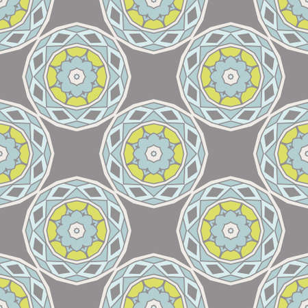 vector seamless ceramic tile flower design pattern background.Wallpaper circle flower design surface.