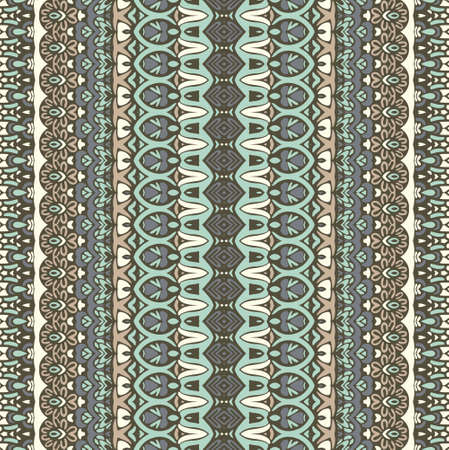 ethnic striped fashion pattern for fabric. Abstract geometric mosaic vintage seamless pattern ornamental. Illustration