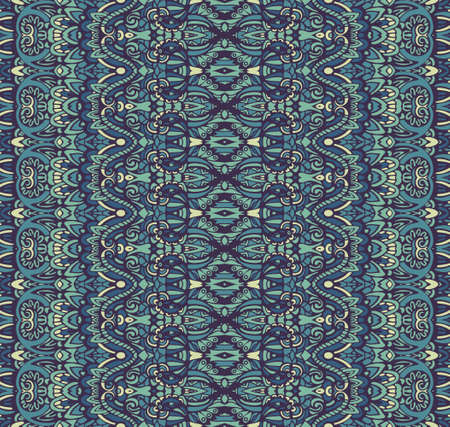 Pattern for tiles and fabric. Abstract geometric vintage blue winter seamless pattern ornamental. Illustration
