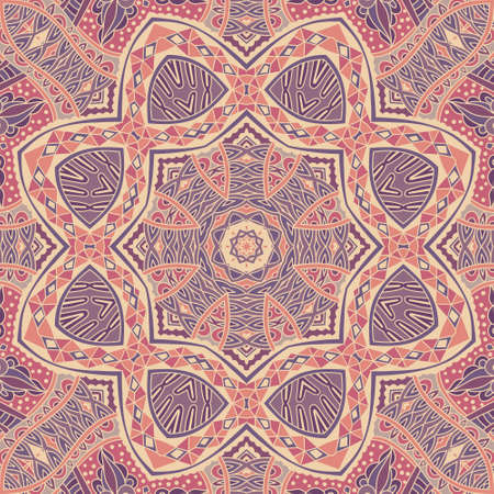 Ethnic geometric print. Colorful repeating background texture. Best for Fabric, cloth design, wallpaper and wrapping