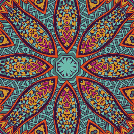 festival art seamless pattern. Ethnic geometric print. Colorful repeating background texture. Fabric, cloth design, wallpaper, wrapping