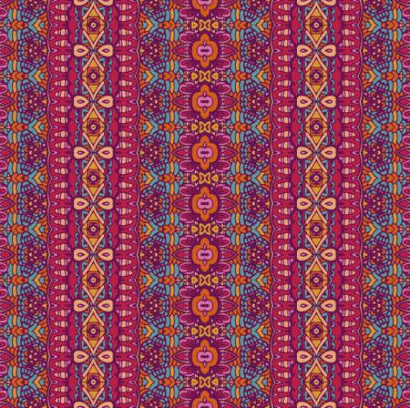 Tribal vintage abstract geometric ethnic seamless pattern ornamental. Asian striped textile design Illustration