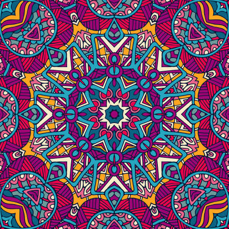 Indian floral paisley medallion pattern. Ethnic Mandala ornament. Henna tattoo style. Can be used for textile, greeting card, coloring book, phone case print.