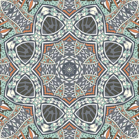 Ethnic geometric print. Colorful repeating background texture. Best for fabric, cloth design and wallpaper, wrapping Illustration