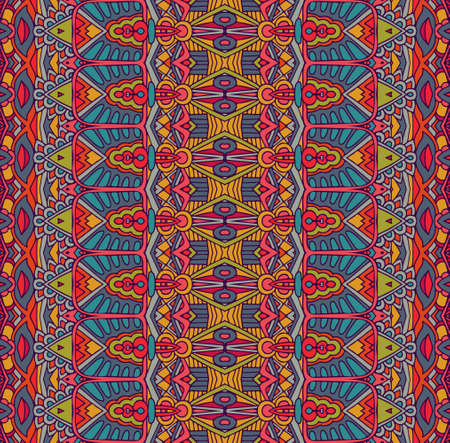 ethnisches festliches Stammesmuster für Stoff. Abstrakte geometrische bunte nahtlose Muster ornamental. Mexikanisches Design