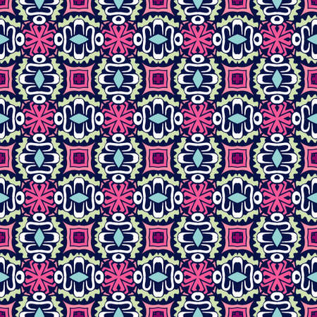 Abstract colorful geometric ethnic seamless pattern ornamental Ilustrace