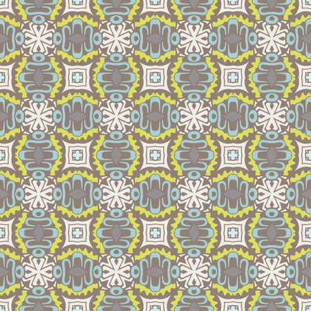 Seamless pattern vector geometric tile backgrond. Classic mosaic motives