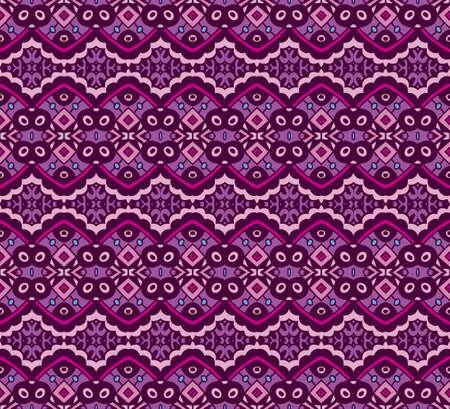 Abstract seamless tiled vector design pattern ornamental. Geometric fabric ikat