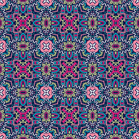 Ethnic seamless pattern. Vector tribal background. Aztec and indian style, vintage print. Ilustrace