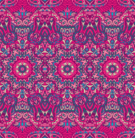 Abstract festive ethnic colorful floral vector ethnic tribal pattern
