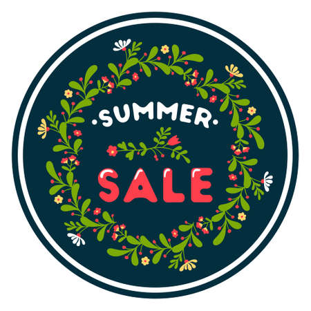 Summer sale colorful background. Beautiful sale poster. Vector illustration
