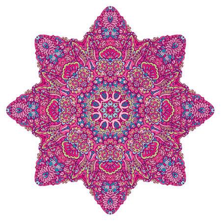 Mandala Hand drawn vector doodle and floral motifs.