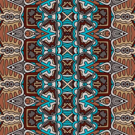 Vector seamless pattern african art batik ikat.