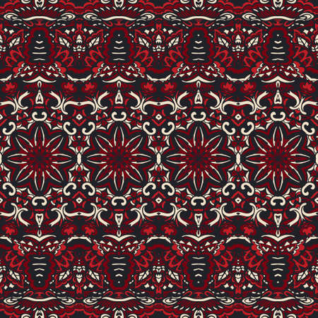 Textile fabric ikat design folk art. Vector Ethnic Abstract Seamless Festive boho pattern background ornamental