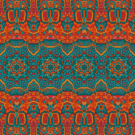 Abstract festive colorful grunge vector ethnic tribal pattern Banque d'images - 131955837