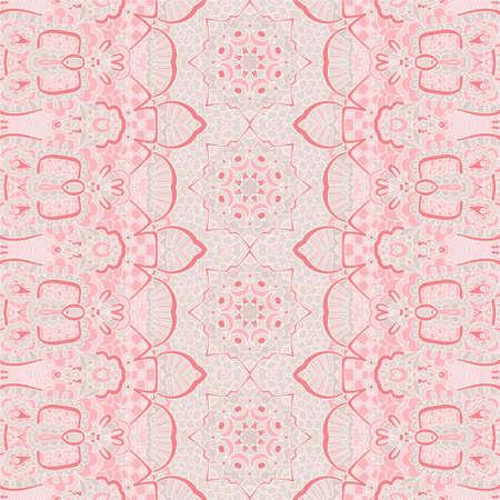 Pink geometric art textile fabric design seamless pattern Banque d'images - 131955838