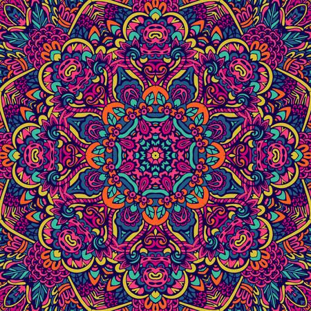 Festival art vector seamless pattern mandala. Ethnic geometric print. Banque d'images - 131955839